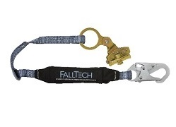 FallTech Rope Grab with 3' ViewPack Shock Absorbing Lanyard