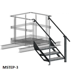 Equipment Platform Steps and Access with Handrail