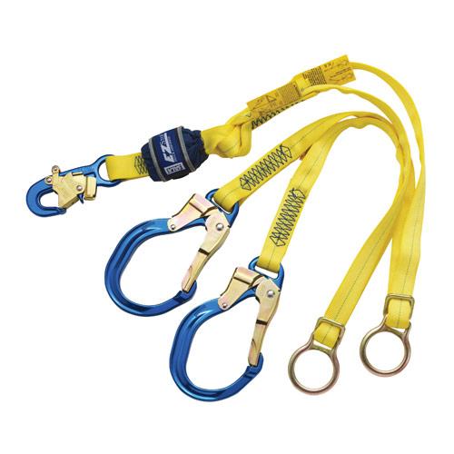 3M DBI EZ-Stop Tie-Back Shock-Absorbing Lanyard (Alum/Steel Hooks/Rings)