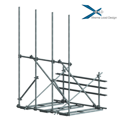 XLD Non-Penetrating Rooftop Frames with RRU Mounts