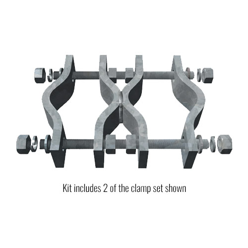 Welded Pipe-to-Pipe Clamp Set