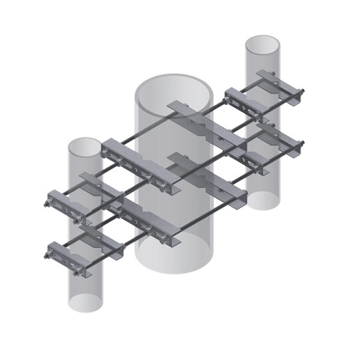 Three-Way Universal Pipe-to-Pipe Clamp Set