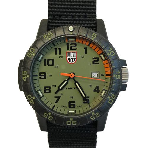 Lumonix Black & Green Leatherback SEA Turtle Watch