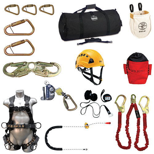Deluxe Aluminum Climbing Kits with Elk River Peregrine RAS PS Harness