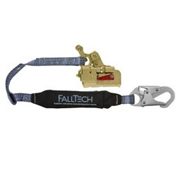 FallTech Rope Grab with 3' ViewPack Shock-Absorbing Lanyard - Deluxe