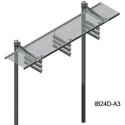 24'' Grip Strut Ice Bridge Kits with Angle Bracket Trapeze