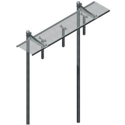 24'' Grip Strut Ice Bridge Kits with Vertical T Brackets