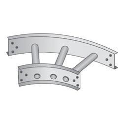 45° Horizontal Bends