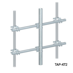 Universal Tubular Arm Pipe Mounts (Face Mount)