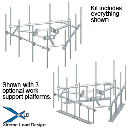 XLD Ultra Low-Profile T-Arm Kits for 12 Antennas