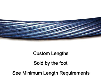 Wire Rope Tension Cable, Left-Hand Lay 9/16\'\' | Site Pro 1